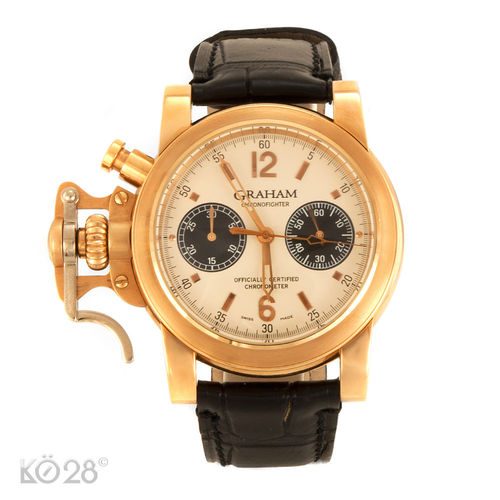 Graham Chronofighter 2CFAR.S02AD54B Rotgold limitiert Papiere 2004 D (11180)