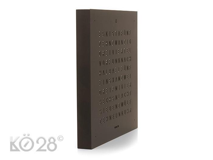 qlocktwo touch deep black tischuhr wecker. Black Bedroom Furniture Sets. Home Design Ideas