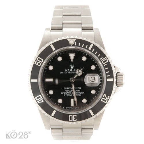 Rolex Submariner Date 16610 Stahl Papiere 02/2007 Z-Serie Revision 2018 (11686)