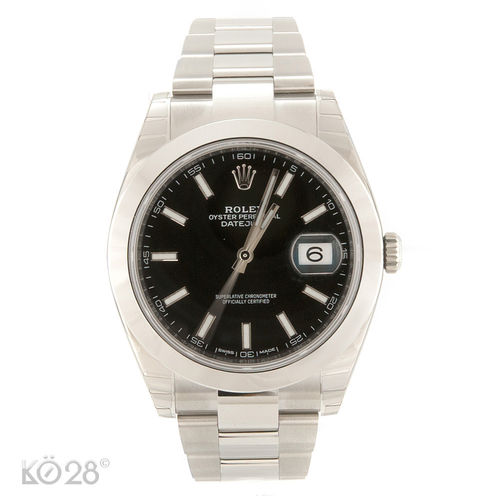 Rolex Datejust 41 116300 Stahl Black Index Dial ungetragen 2015 LC100 (11727)