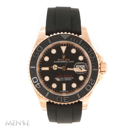 Rolex Yacht-Master 116655 Roségold Rubber 40 mm B+P 09/2015 LC100 (11779)