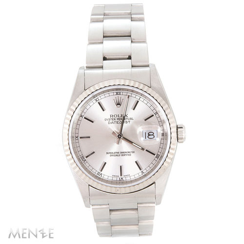 Rolex Datejust 36mm 16234 Silver Dial B+P 05/2002 LC100 K-Serie (12189)
