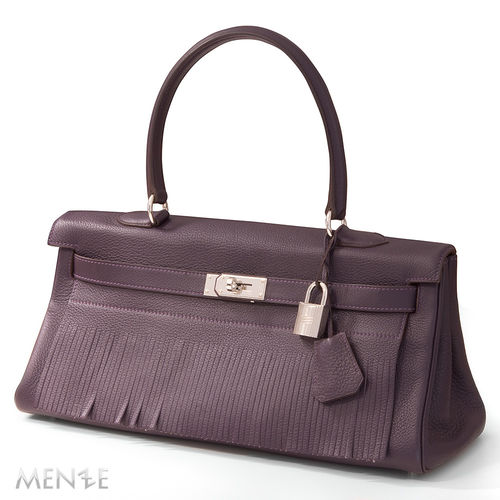 Hermès Hermes Kelly Shoulder 40 Fringe limited Tourillon Rasin ca. 2009  (21888)