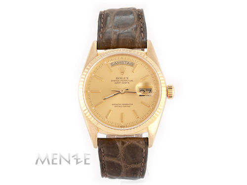 Rolex Day-Date 36 18038 Gelbgold Dial Papiere ca.1986 (12632)