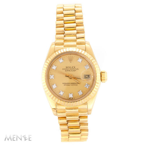 Rolex Vintage Lady Datejust 6917 Gelbgold 26 mm 12/1977 B+P LC100 (12645)