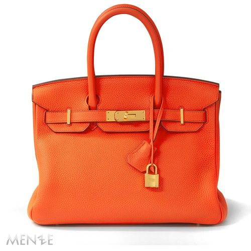Hermès Hermes Birkin Bag 30 TOGO Orange Poppy Gold 12/2016 (22072)