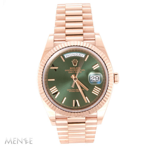 Rolex Day-Date 40 228235 Roségold 40mm Green Sunray 06/2019 (12883)