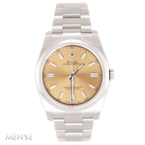Rolex Oyster Perpetual 116000 Edelstahl 36mm White Grape Dial 12/2015 LC100 (12884)