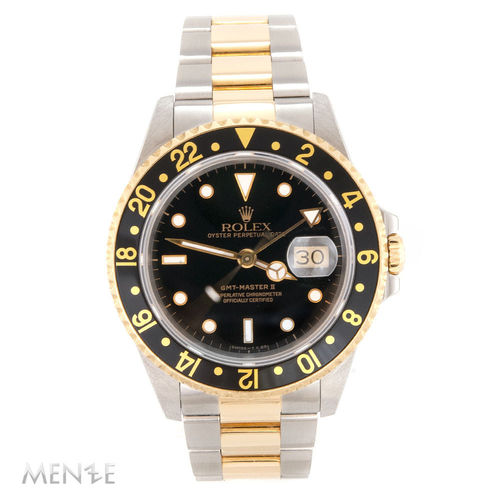 Rolex GMT Master II 16713 Stahl / Gold Black Dial Papiere 07/1992 N-Serie (12926)