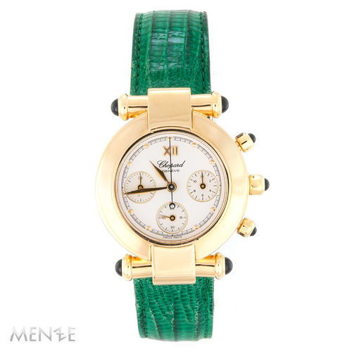 Chopard Imperiale Chrono 383157-0006 Gelbgold - Leder 32mm Box + Service (13065)