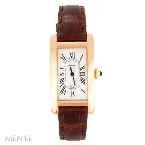 Cartier Tank Americaine W2620030 Roségold on Strap White Dial B+P 01/2020(13213)