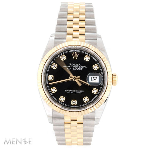 Rolex Datejust 36 126233 Stahl Gold Black Diamond Dial 04/2021 Unworn (13366)